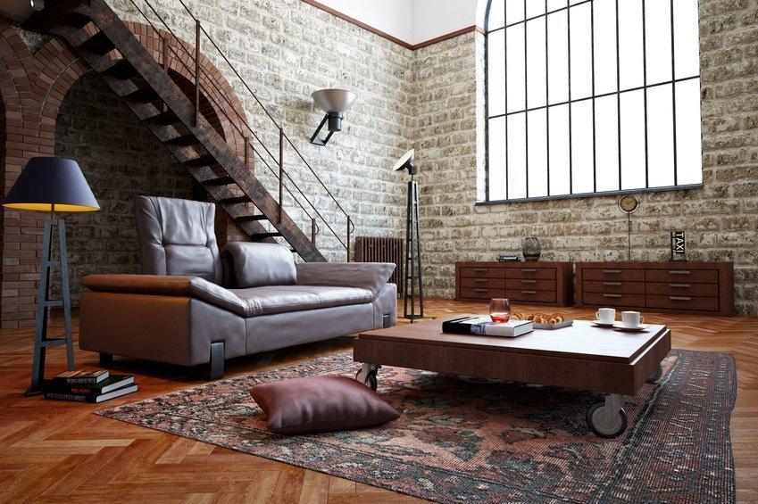 Das Design der Leder Chaiselonge ist modern und industriell