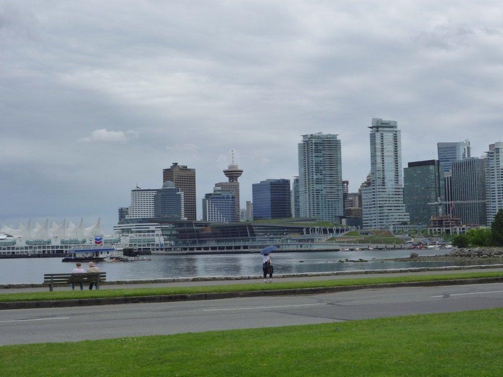 Downtown Vancouver vom Stanley Park aus