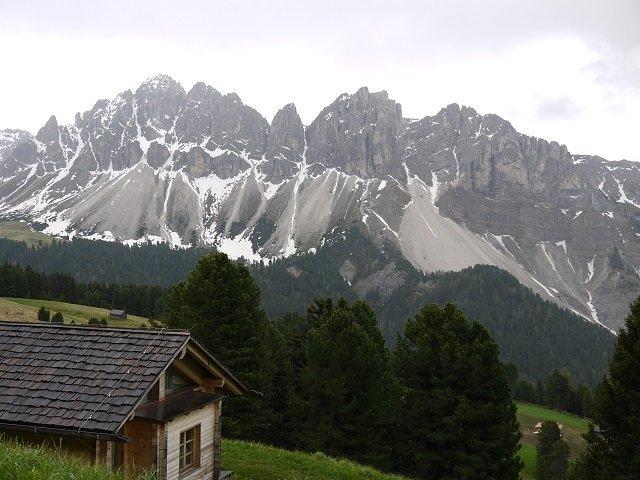 Die Aussicht - links im Bild eine der Gästehütten!